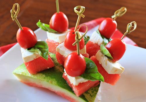 Watermelon Tomato And Feta Cheese Skewers | Recipe Rebuild