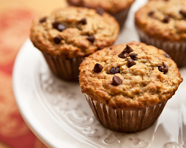 Banana Oat Muffins With Dark Chocolate Chips | Recipe Rebuild