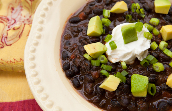 Vegetarian Black Bean Chipotle Chili | Recipe Rebuild