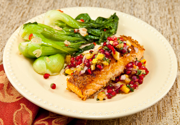 Roasted Salmon With Pineapple Pomegranate Relish | Recipe Rebuild