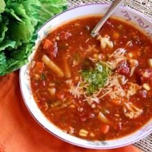Vegetable-Pesto-Soup
